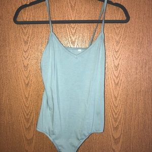PacSun Basics Green Bodysuit EUC